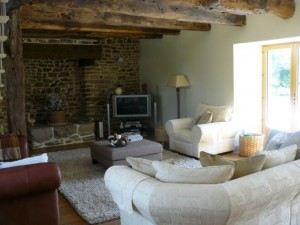 The salon at accommodation ref 397 in Brittany