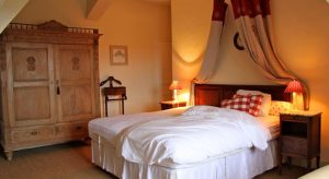 Guest rooms at this luxury chateau accommodation in Burgundy