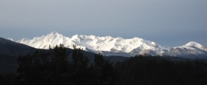 The French Pyrenees in the winter morning sun