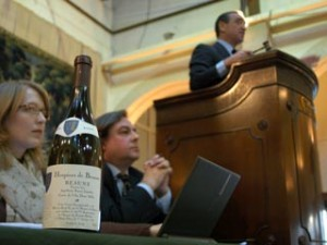 The wine auction at the Hospice de Beaune