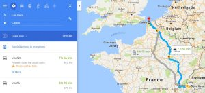 Google maps journey planner