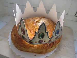 The traditional galette des rois or king cake