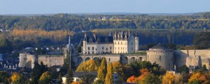 The Chateau d'Amboise in the autumn