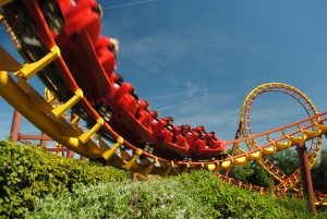 Rollercoaster at Parc Asterix