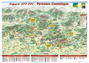 Each mountain biking centre in France provides a map of the marked circuits