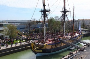 The frigate Hermione, built at Rochefort