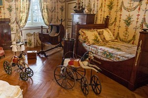 Children will love the antique toys on a visit to the Chateau de Cheverny