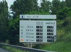 Fuel prices on French autoroutes can be very high