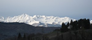The mountains of France are spectacularly beautiful in the Winter