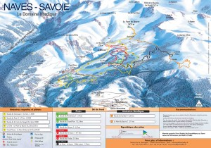 Nordic skiing circuits in the Savoie area of France