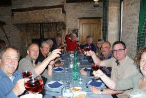 The 'table d'hôte' in France is a convivial affair