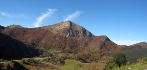 The autumn colours in the mountains and foothills of the French Pyrenees are stunning