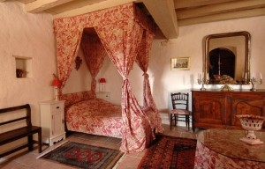 The chateau B&B has beautiful, charming guest rooms