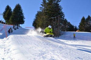 Get an adrenaline buzz on the airboard on your alternative winter holiday