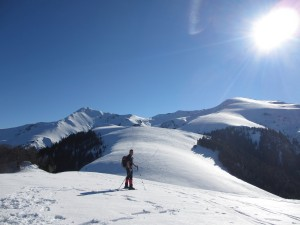 Snowshoeing on an alternative winter holiday in France