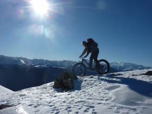 Mountain biking in France using fatbikes on your winter holiday