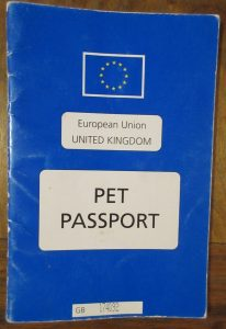 Dog pet passport