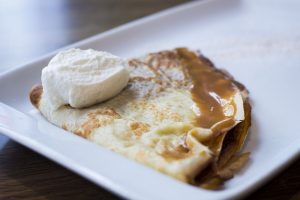 Crepes for dessert on pancake day