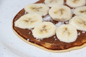 Bananas and chocolate spread on pancake day in France
