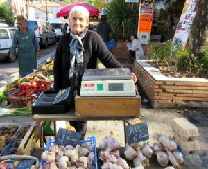 Madame at the local market